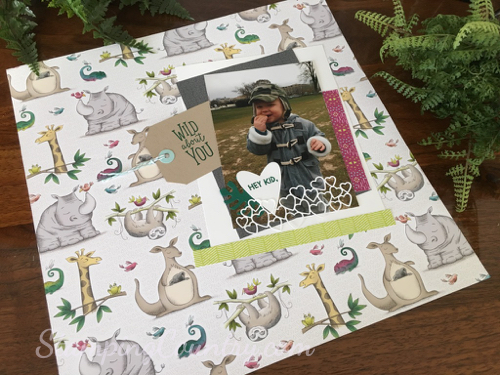 Animal Expedition Scrapbook Layout