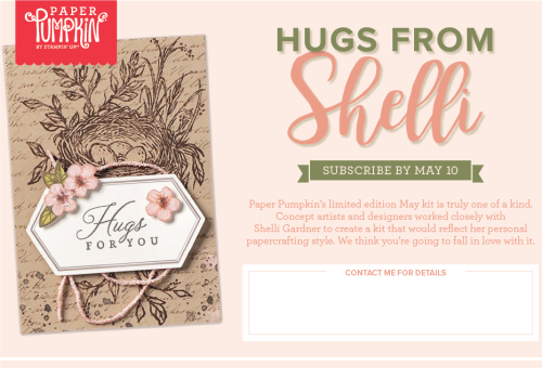 Hugs from Shelli Paper Pumpkin