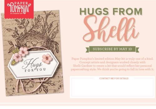 Hugs from Shelli Paper Pumpkin