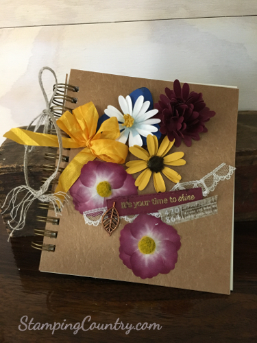 Pressed Petals Journal Stampin' Up!