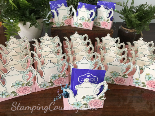 Bridal Shower Tea Party Favors Stamping Country