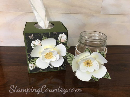 How To Make Paper Magnolias Stamping Country