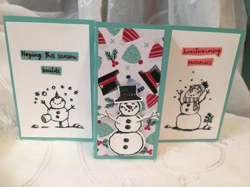 Snowman Season Fancy Fold Card