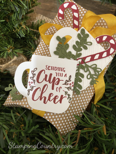 Cup of Christmas Pillow Box Stampin' Up!