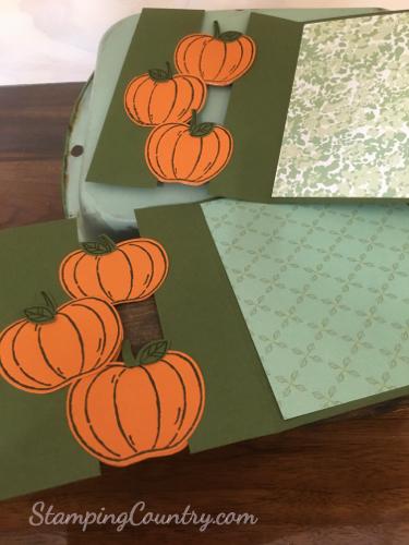 Floating Pumpkins Card Tutorial
