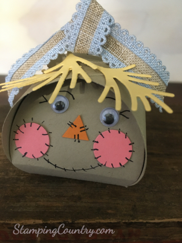 scarecrow Mini Curvy Keepsakes Treat Box