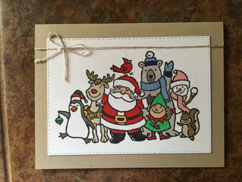 Handmade Christmas Card Tara Griffin