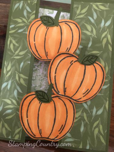 Floating Pumpkins Card