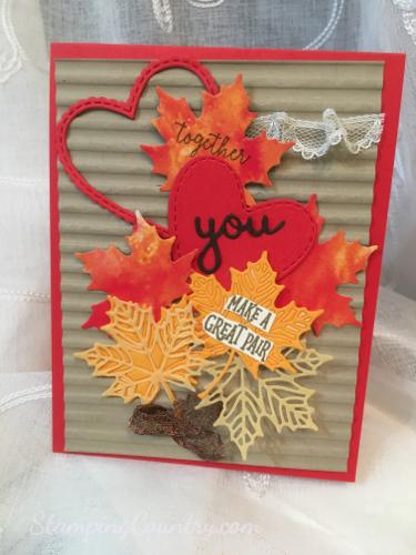 Handmade Autumn Anniversary Card