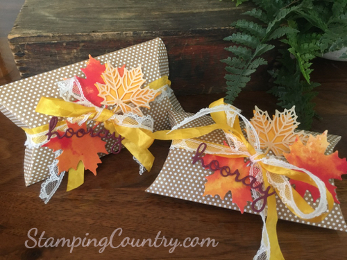 Autumn Pillow Box