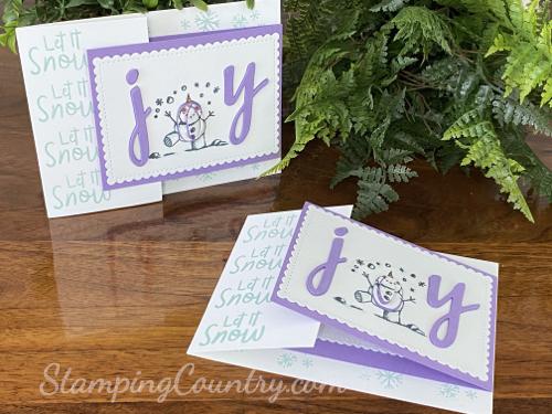 Let It Snow Joy Fold Card