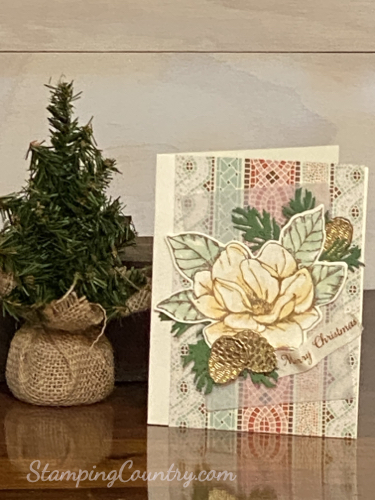 Good Morning Magnolia Christmas Card Stampin' Up!