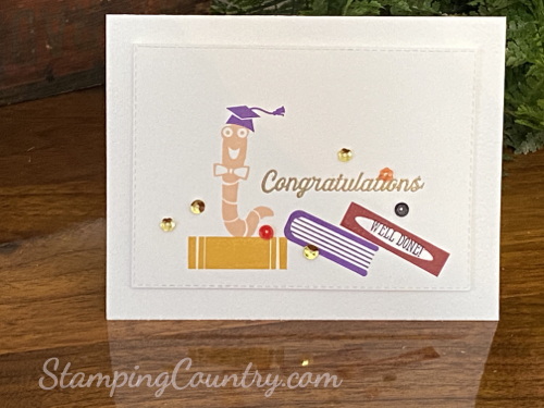 Hand Stamped Graduation Card