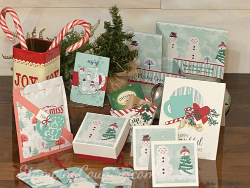 Christmas Tags, Boxes, treat Pouches
