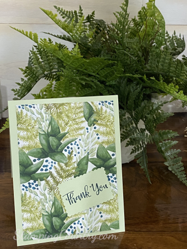 Forever Greenery paper Stampin' Up!