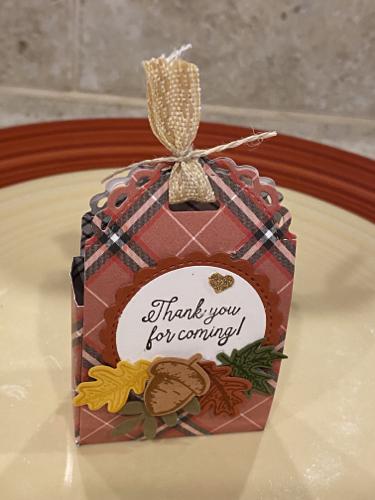 Beautiful Autumn Treat Holder by Carol Dennnison