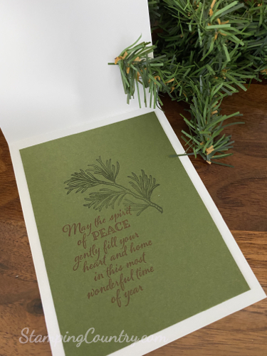 Peaceful Boughs Stampin' Up!