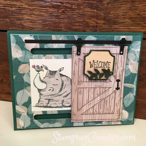 Animal Outing Sliding Door Card