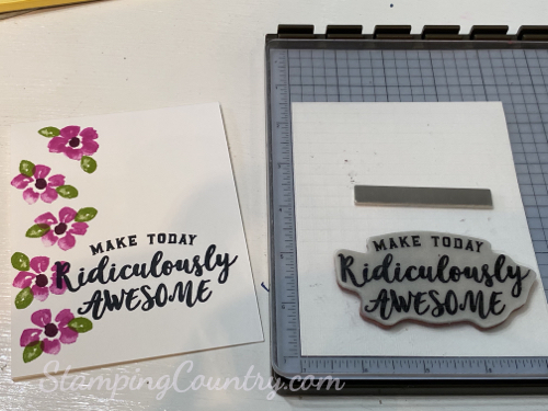Make in Minutes Card Stamping Country