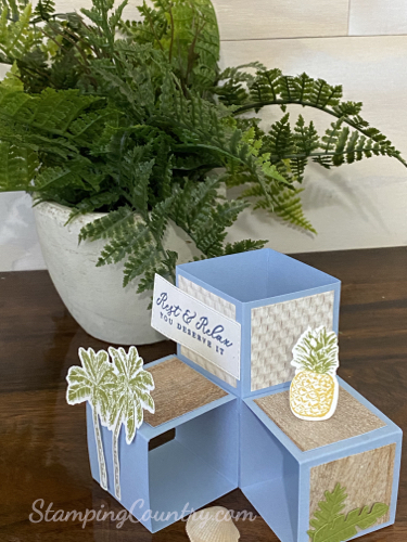 Timeless Tropical Cubed Pop Up Card