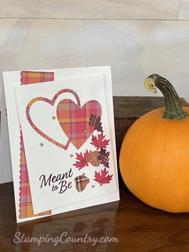 Handmade Autumn Anniversary/Wedding Card