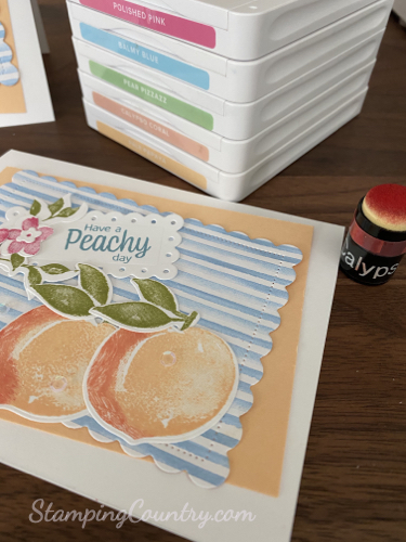 Sweet As A Peach Stampin' Up!