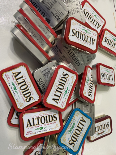 Recycling Altoid Tins