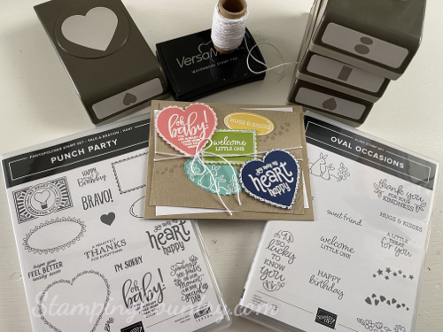 Oval Occasions/Punch Party Stampin' Up!