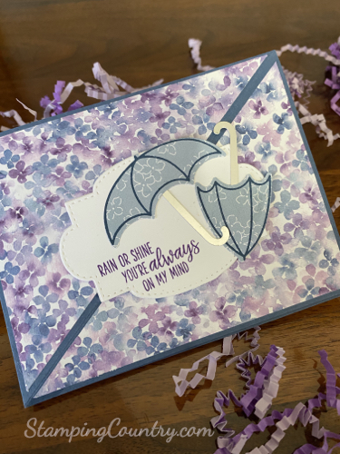 Under My Umbrella Twisted Easel Card
