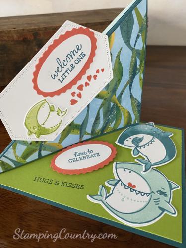 Baby Shark Twisted Easel Card
