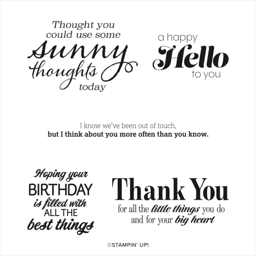 Sunny Sentiments Stampin' Up!